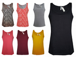 Wholesale Womens B.C Vest Tank Tops Figure Fit Jersey Size 6 to 14